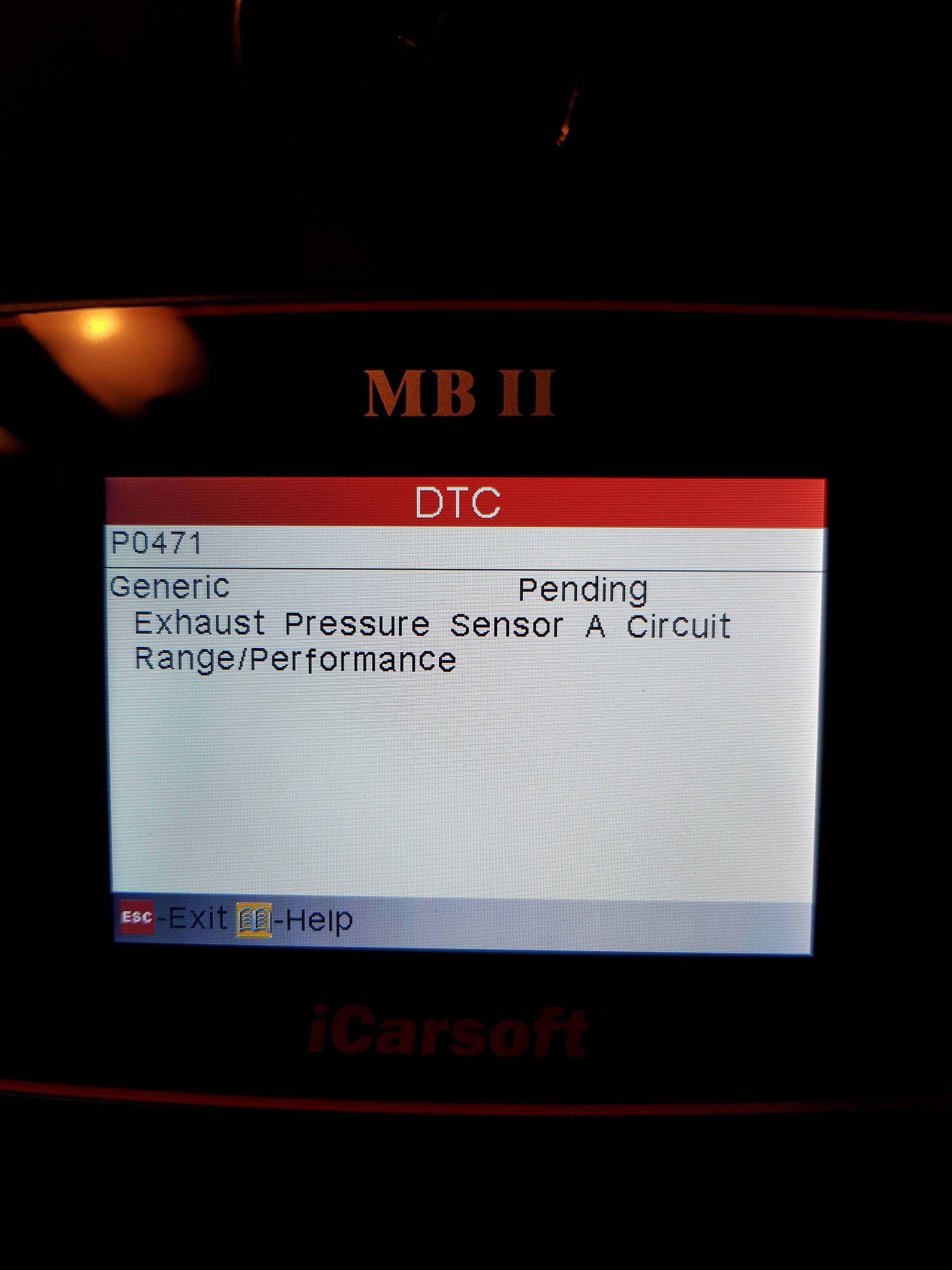 W220 S320 cdi P0471 Exhaust Pressure Sensor range/problem | Mercedes